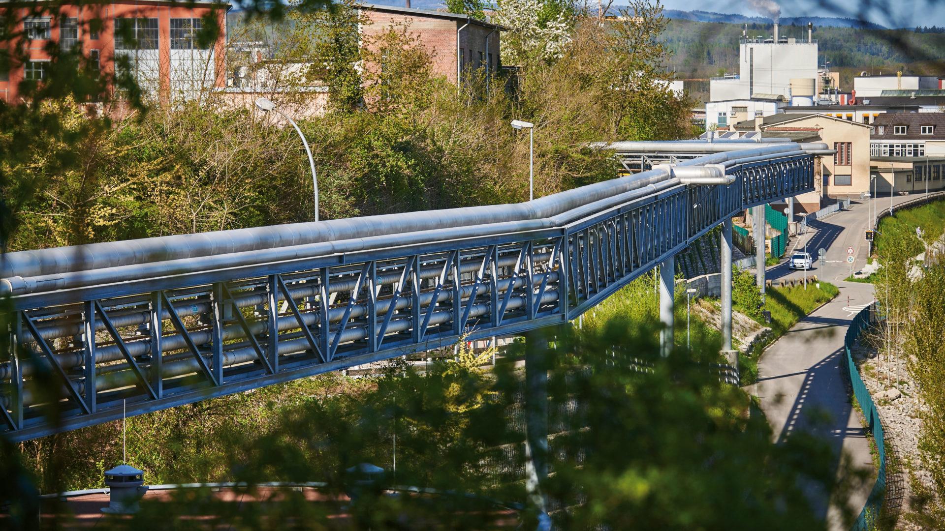 Rohrbrücke in Rheinfelden (Baden)