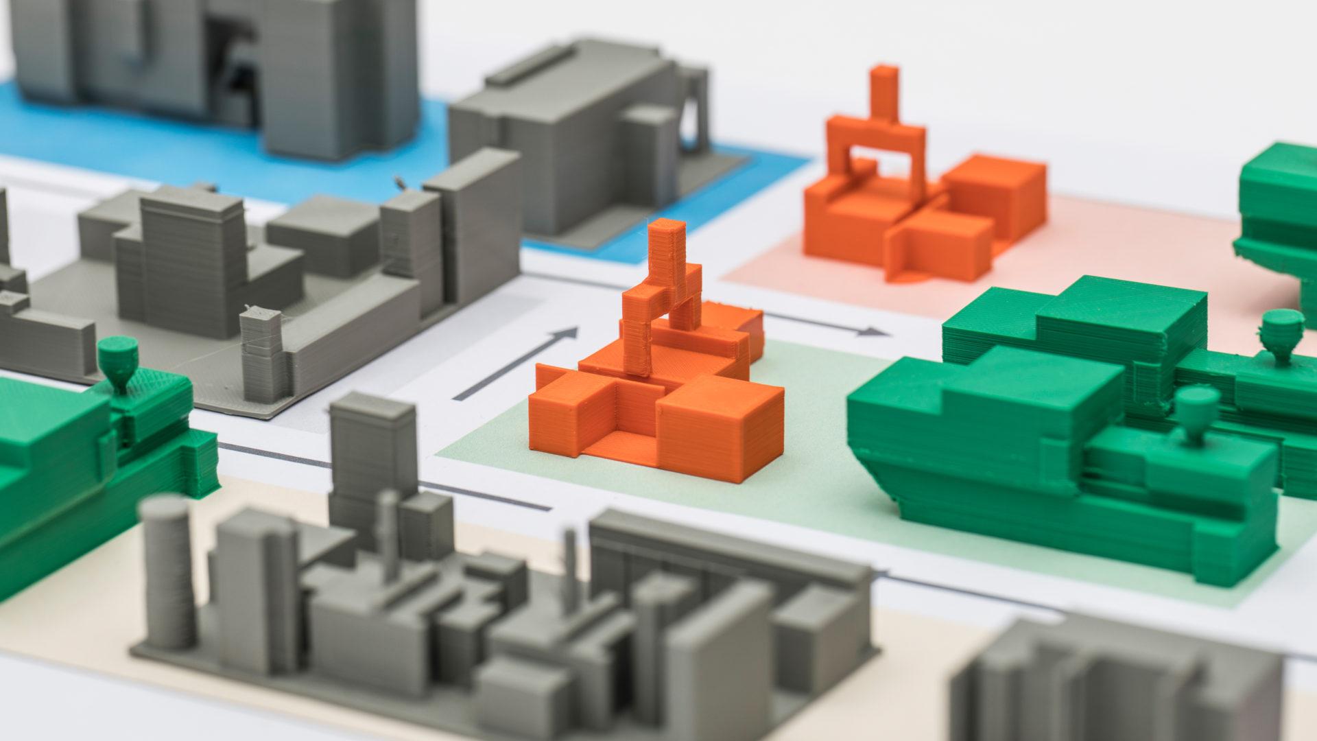 Modell einer Fabrik