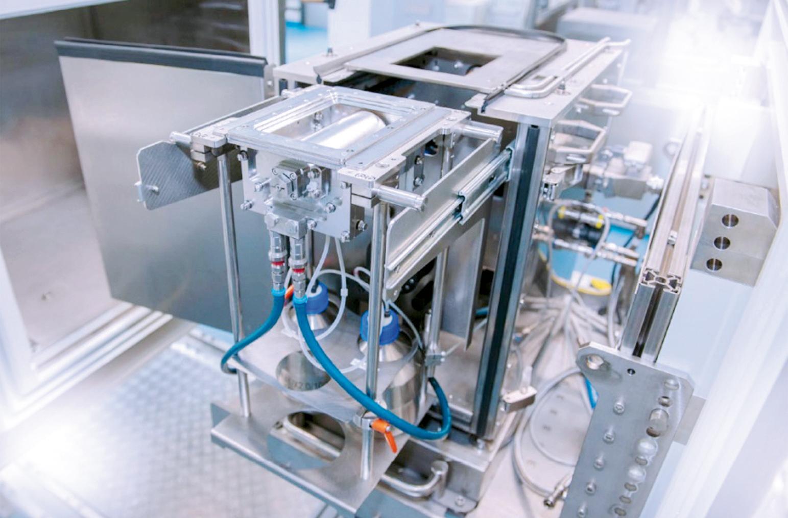 Prototyp des Flüssigkeitsrollensystems