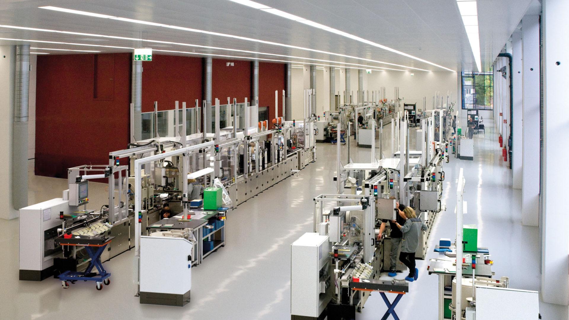 Batteriezellenproduktion bei VARTA