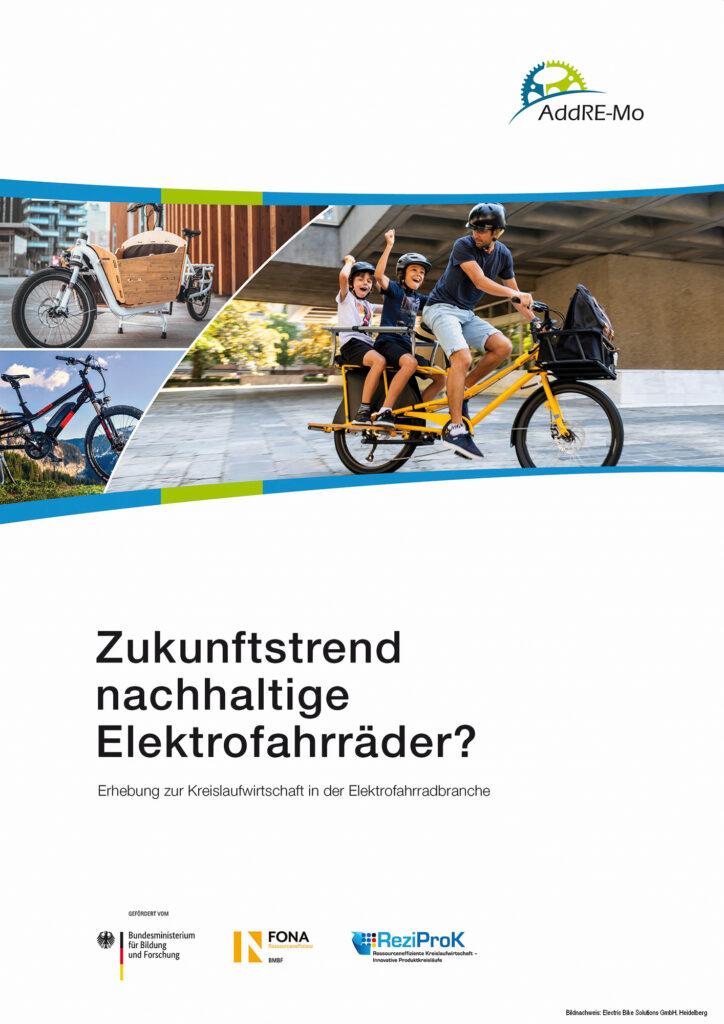 Cover Studie Zukunfstrend nachhaltige Elektrofahrräder