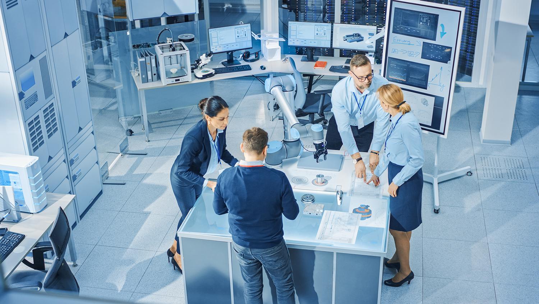 Team of Industrial Robotics Engineers